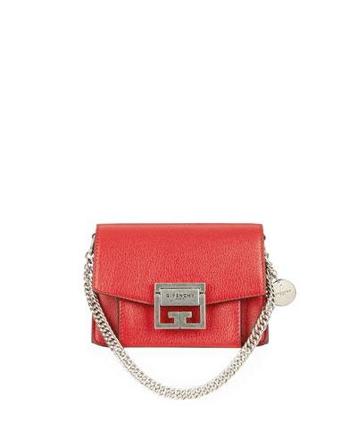 GV3 Mini Goatskin Leather Satchel Bag
