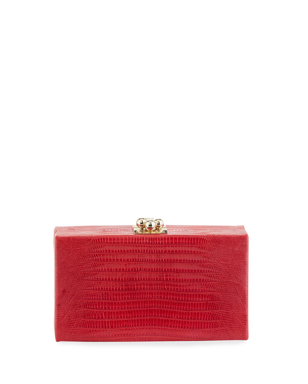 Edie Parker Jean Lizard Box Clutch Bag kFPtzPD