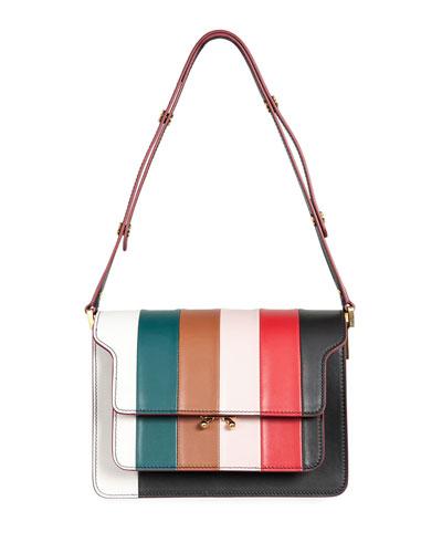 Stripe Borsa Tracolla Large Shoulder Bag