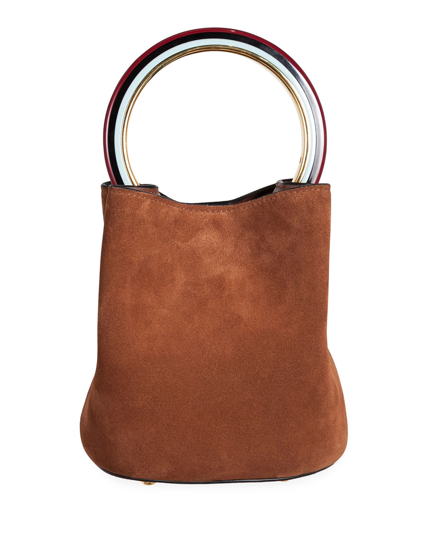 MARNI SUEDE CIRCLE BUCKET BAG