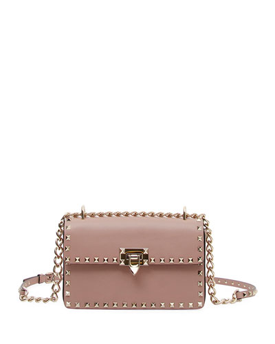 Valentino Very V. Rockstud Ruffled Shoulder Bag O1kfral7