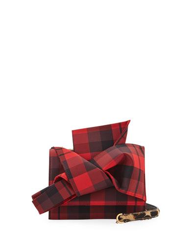 Tartan Small Bow Shoulder Bag