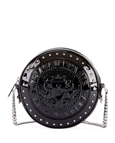 Circle Disco Patent Crossbody Bag