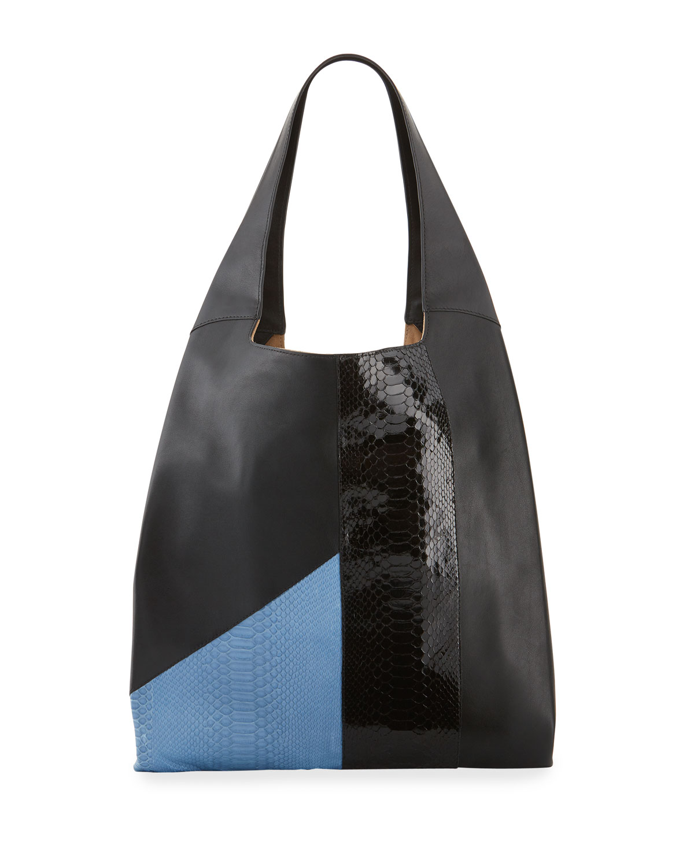 Hayward Mini-sac Fourre-tout Client De Python Bicolore, Bleu / Noir