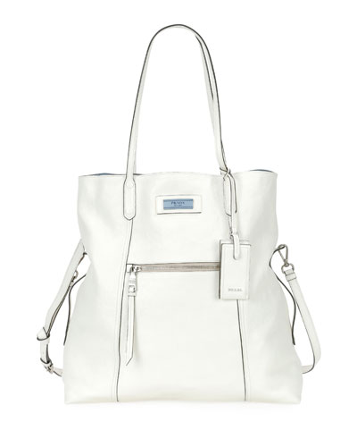 Glace Calf Etiquette Shoulder Tote Bag