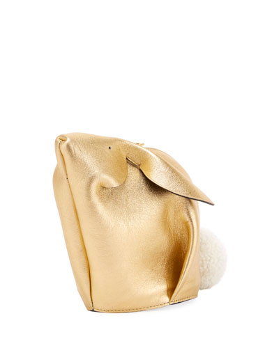 Bunny Mini Metallic Crossbody Bag