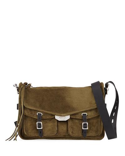 1a0a2105a9ba Field Suede Leather Crossbody Messenger Bag