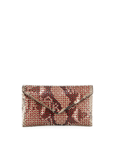 Large Python Envelope Clutch Bag