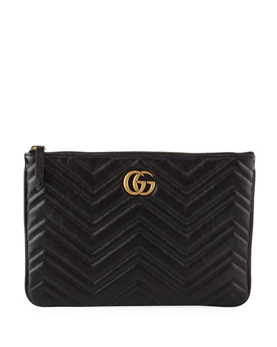 b0301ce45c50 GG Marmont Quilted Leather Zip Pouch Bag