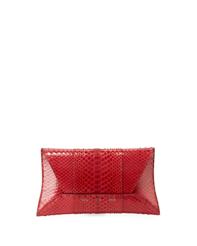 Manila GT Shiny Python Clutch Bag