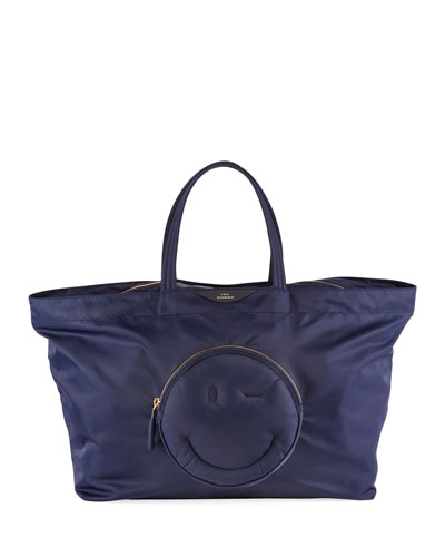 d23250359124 East-West Large Chubby Wink Tote Bag