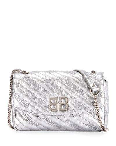 f85324037bde BB Chain Metallic Logo Crossbody Bag
