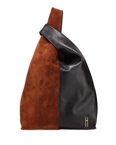 Grand Colorblock Shopper Tote Bag, Brown/Black