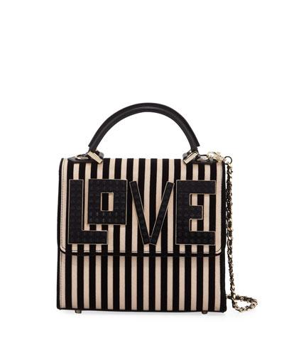 Alex Mini Black Widow LOVE Chain Shoulder Bag