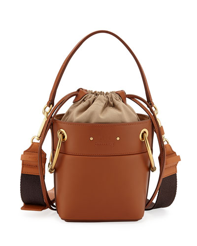Roy Mini Calf Leather Bucket Bag