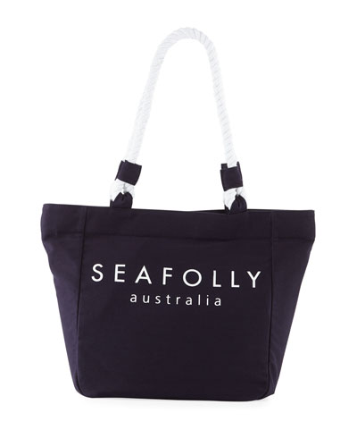 Carried Away Canvas Rope Beach Tote Bag