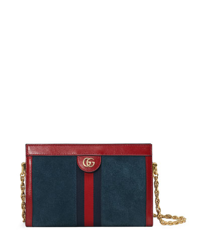 Ophidia Small Suede Chain Shoulder Bag