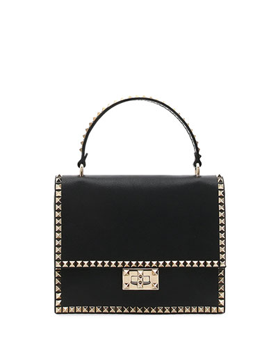 Rockstud No Limit Buffalo Leather Top-Handle Bag