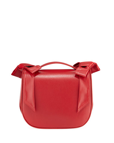 Leather Bow Crossbody Bag