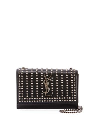 Kate Monogram YSL Small Studded Leather Chain Crossbody Bag