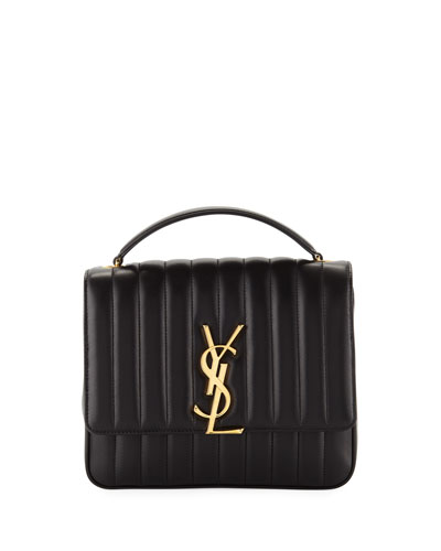 Vicky Monogram YSL Large Quilted Leather Chain Crossbody Bag Quick Look. Saint  Laurent 3c36ce8b5c