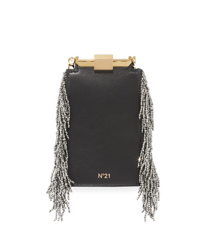 Chain-Fringe Framed Bag