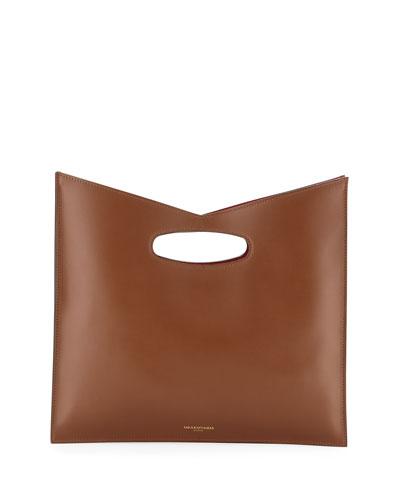 aaa95097863 Leather Strap Snap Closure Handbag