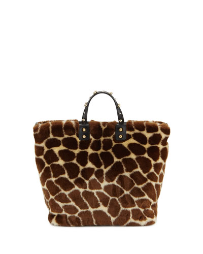 Giraffe Fur Beatrice Tote Bag