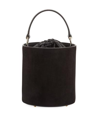 Olivia Mini Suede Leather Bucket Bag