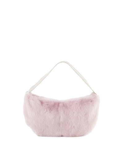 Betty Mink Shoulder Bag, Pink