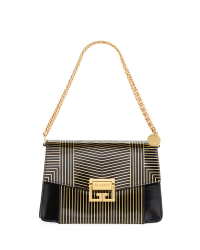 GV3 Small Striped Leather Satchel Bag