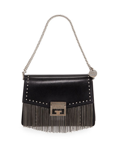 GV3 Small Fringed Leather Crossbody Bag