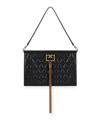 Gem Large Quilted Leather Shoulder Bag