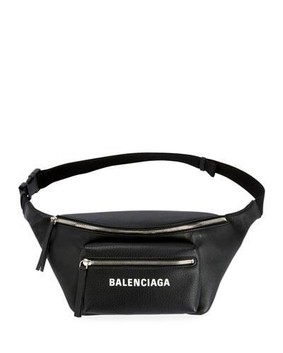 Balenciaga Everyday Large Leather Belt Bag with Logo/Fanny