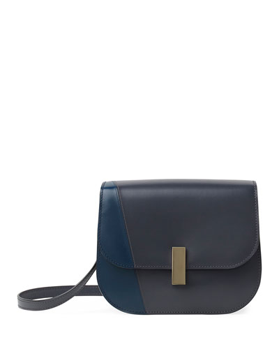 Iside Colorblock Leather Crossbody Bag