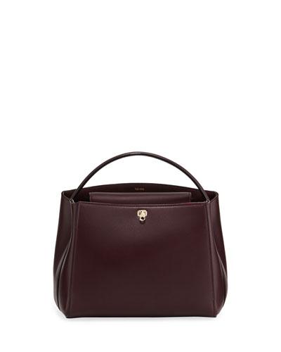 Glossy Leather Brera Top Handle Bag