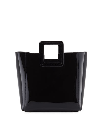 Shirley Patent Vinyl Tote Bag