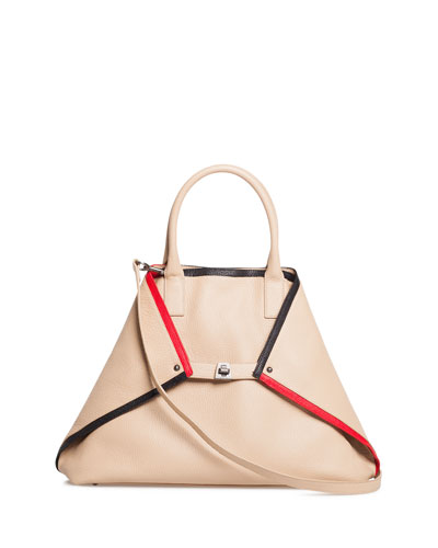 Ai Medium Linia Treatment Top-Handle Tote Bag