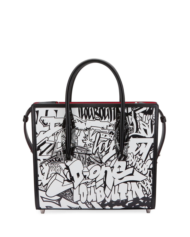 Paloma Medium Paris Wall Nicograf Tote Bag in Black/White
