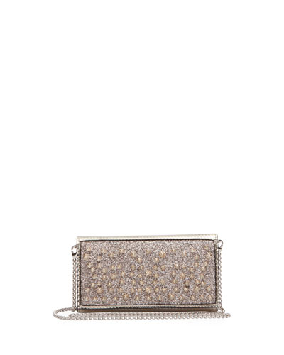 Christian Louboutin Boudoir Chain Glitter Wallet