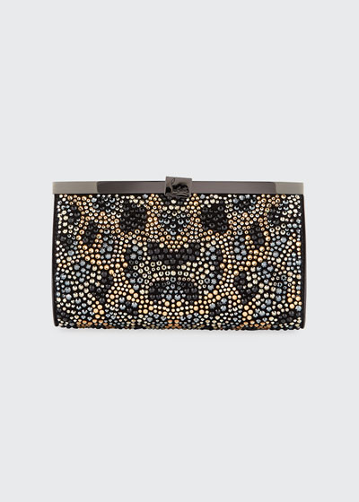Palmette Crystal Small Clutch Bag