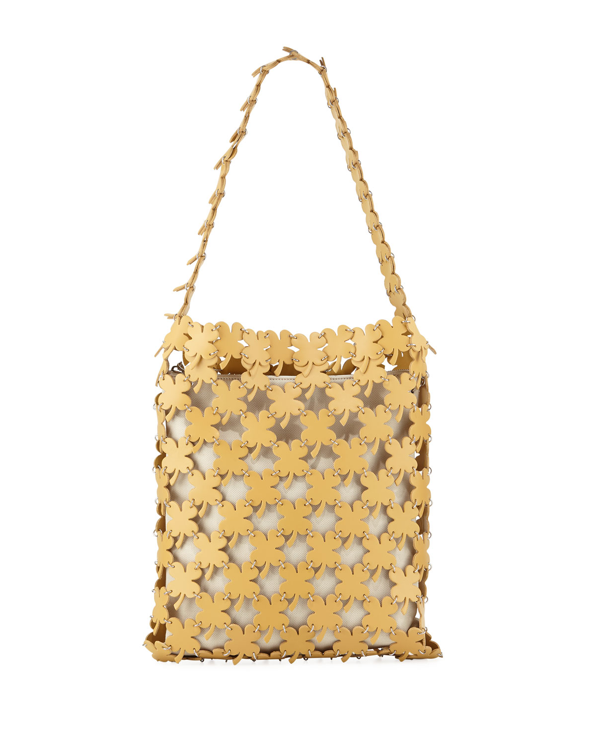 Paco Rabanne Canvases ICONIC CLOVER HOBO BAG
