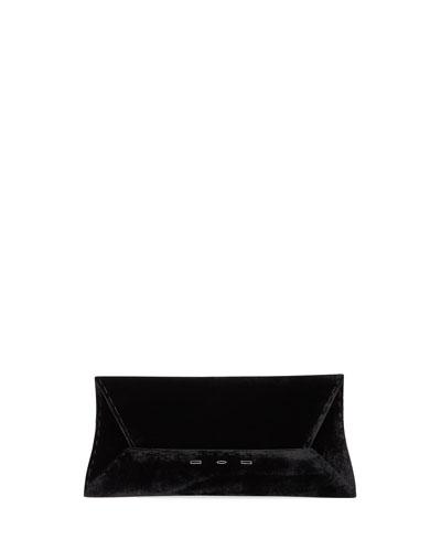 Manila Stretch T Velvet Clutch Bag, Black
