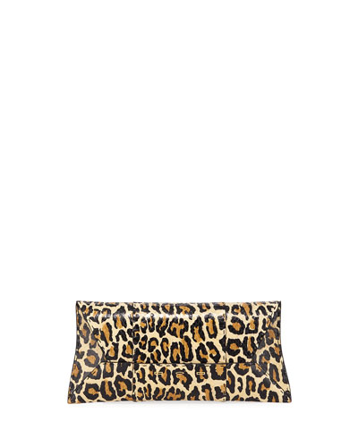 Manila Stretch T Light Leopard Snake Clutch Bag