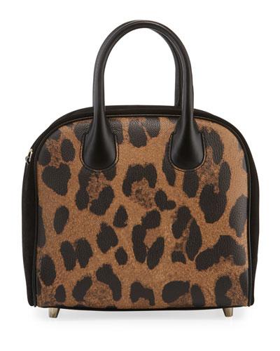 Marie Jane Small Leopard-Print Calf Satchel Bag