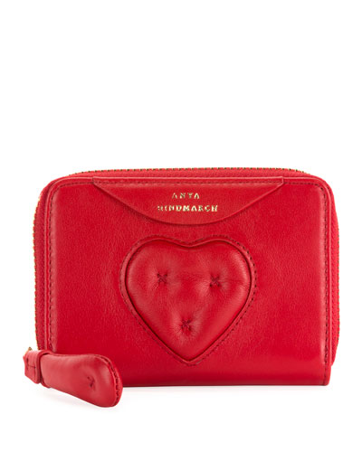 Small Chubby Heart Zip-Around Wallet