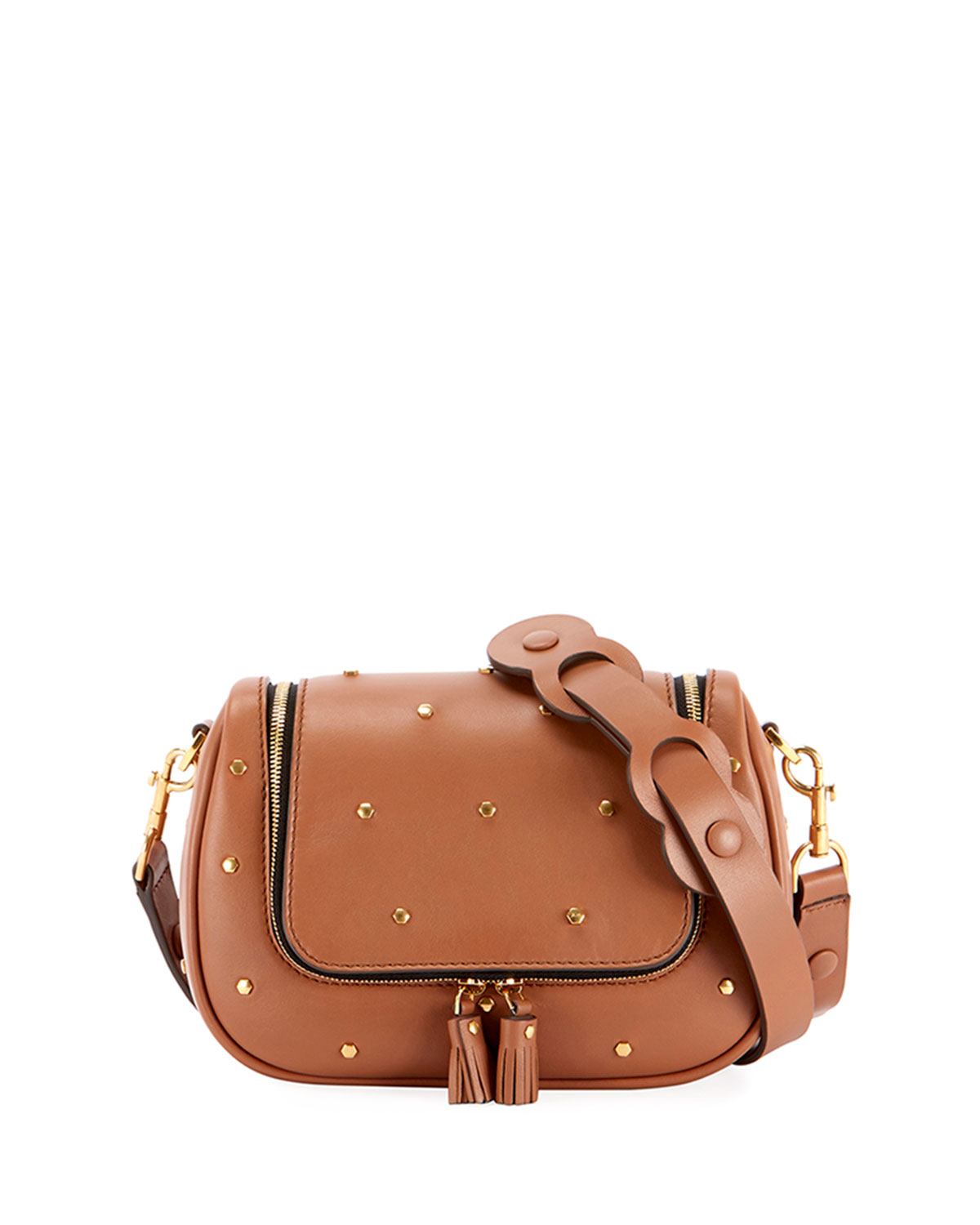 Vere Small Soft Satchel Bag in Tan