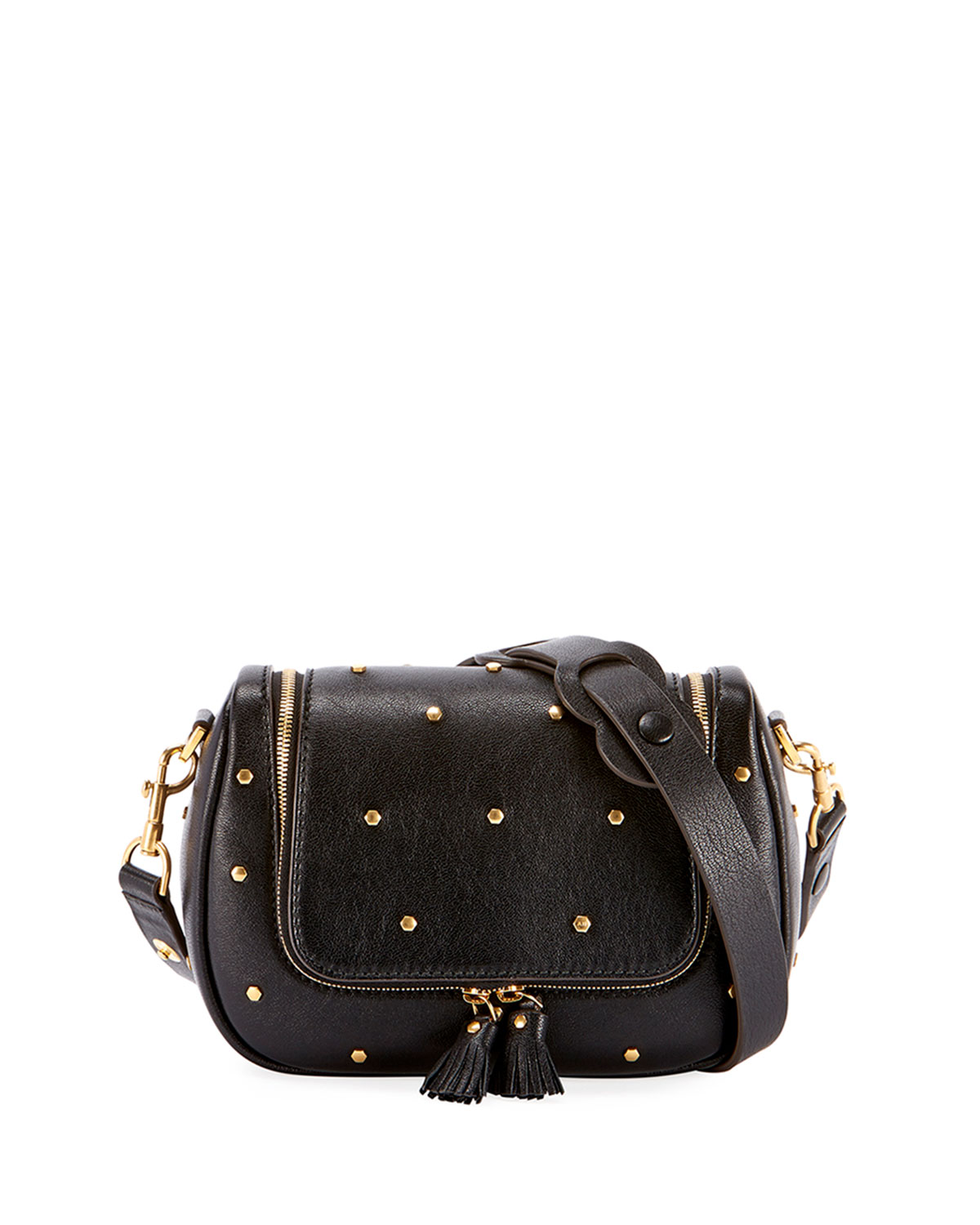 Vere Small Soft Satchel Bag in Black
