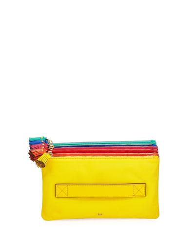 Filing Cabinet Colorblock Clutch Bag