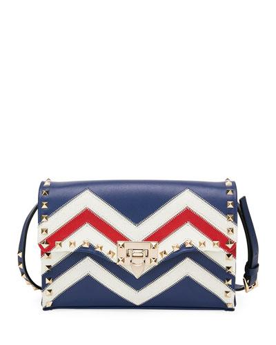 Americana Rockstud Medium Leather Shoulder Bag
